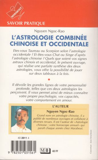 L'Astrologie combinée chinoise et occidentale (dos)