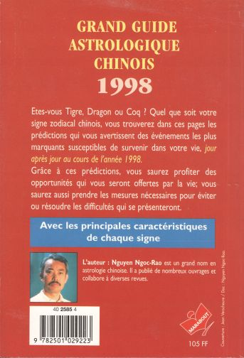Grand guide astrologique chinois 1998 (Éd. Marabout) (dos)